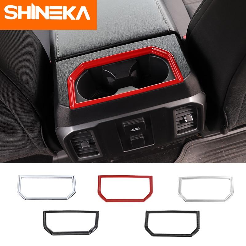 SHINEKA インテリアモールディングフォード f150 2016 + カップホルダー装飾 ABS フォード f150 用クロームアクセサリー  グループ上の 自動車 &バイク からの インテリア モールディング の中 1