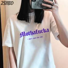 Female t shirt cartoon printed ins letter short-sleeved Harajuku summer womens new fashion casual T-shirt Tops S-2XL