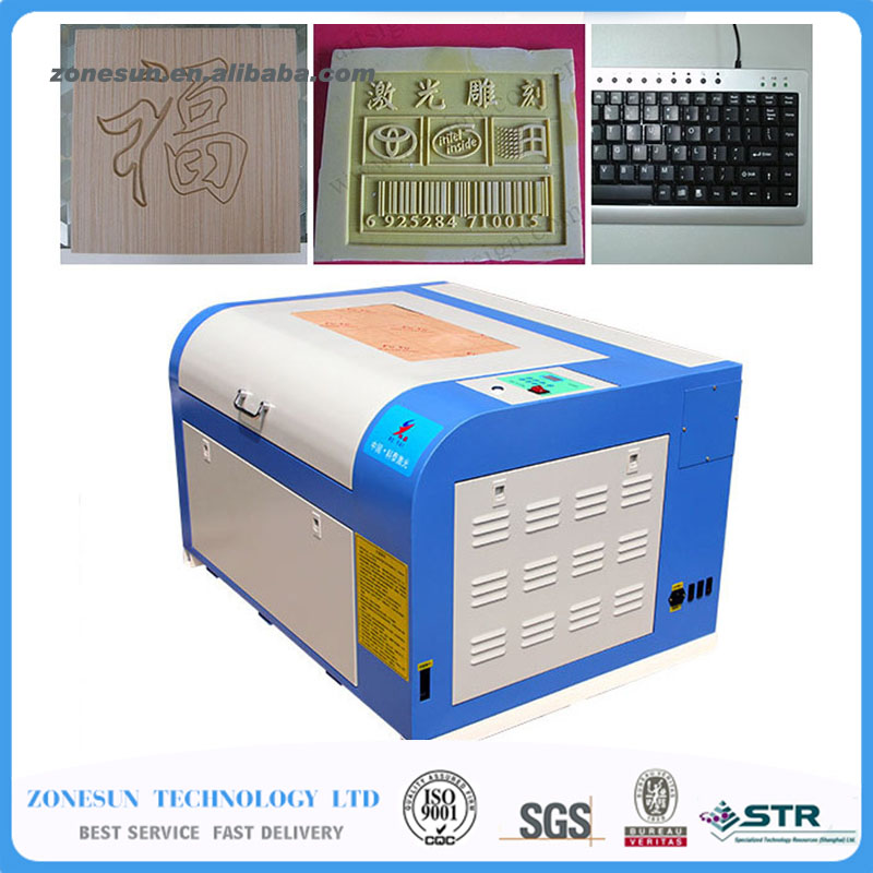 ZONESUN Engraving machine 110/220V 80W 400*600mm Mini CO2 Laser Engraver Cutting Machine 4060 Laser with USB Support robotec mini small card small business laser engraving cutting machine cnc co2 6040 4060