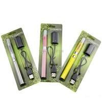 50pcs/lot EVOD MT3 kits mt3 evod blister kit mt3 e liquid vaporizer evod rechargeable battery usb charger in blister pack e cig