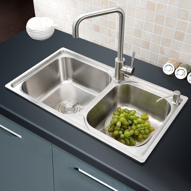 304 Stainless Steel Kitchen Sink Faucet Dapur Aksesoris 66 40 21 Cm