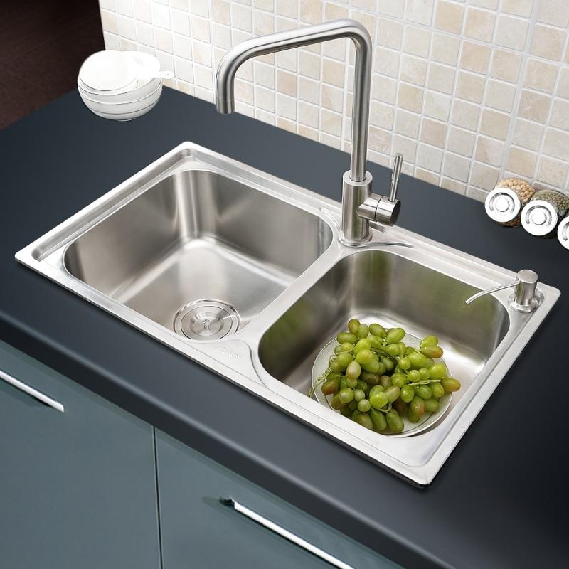 304 stainless steel kitchen sink faucet kitchen accessories 664021cmchina - Kitchen Sinks Price