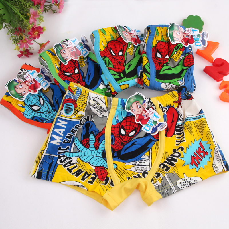 Underpants Briefs for Boys Underwears Panties Infant Boxers Briefs Shorts Cotton Cartoon Teenagers Underwears for 3-11 years old