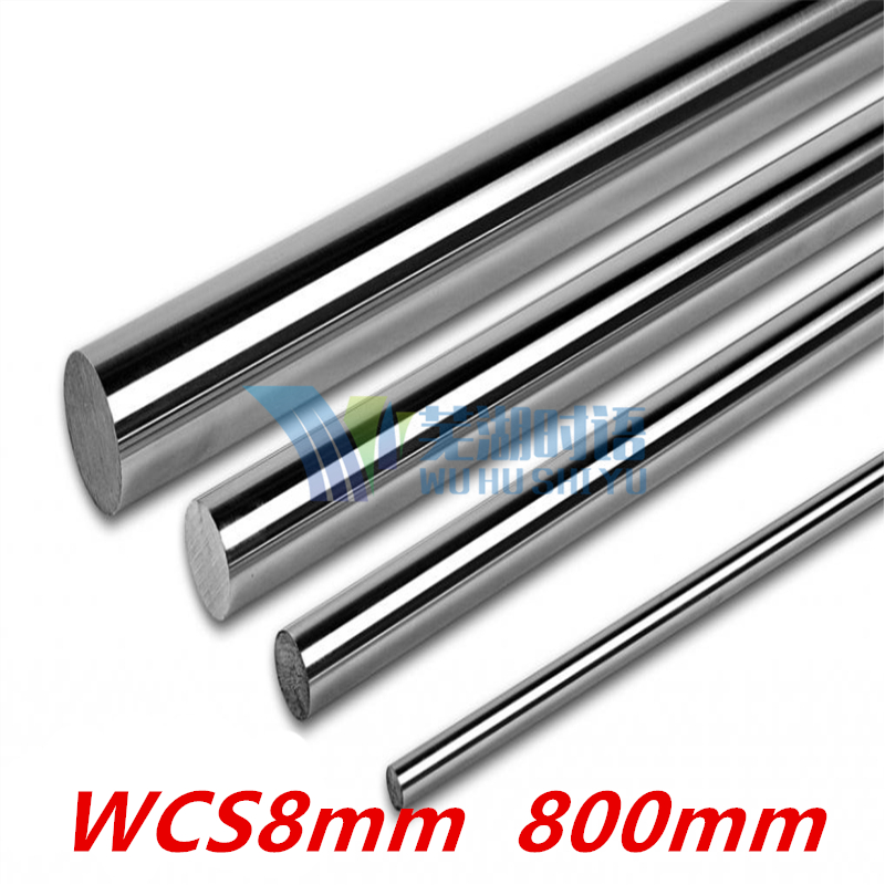 2 pcs 3D printer rod shaft WCS8mm linear shaft 800mm chrome plated linear motion guide rail round rod 8mm 800mm диски helo he844 chrome plated r20
