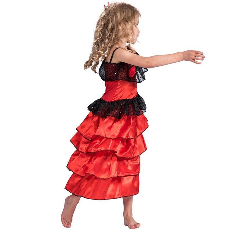 Fancy Dress Flamenco Ladies Latin Mexican Salsa Costume Dancer Senorita Rumba