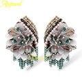 Ajojewel Beautiful Flower Designer Vintage Style Earrings Jewelry With Element Crystal Beads