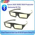 2PCS 3D Glasses RF Bluetooth Active Shutter For Epson 3020 3020E 5020 Projecotor For Samsung 3D TVs Free Shipping!