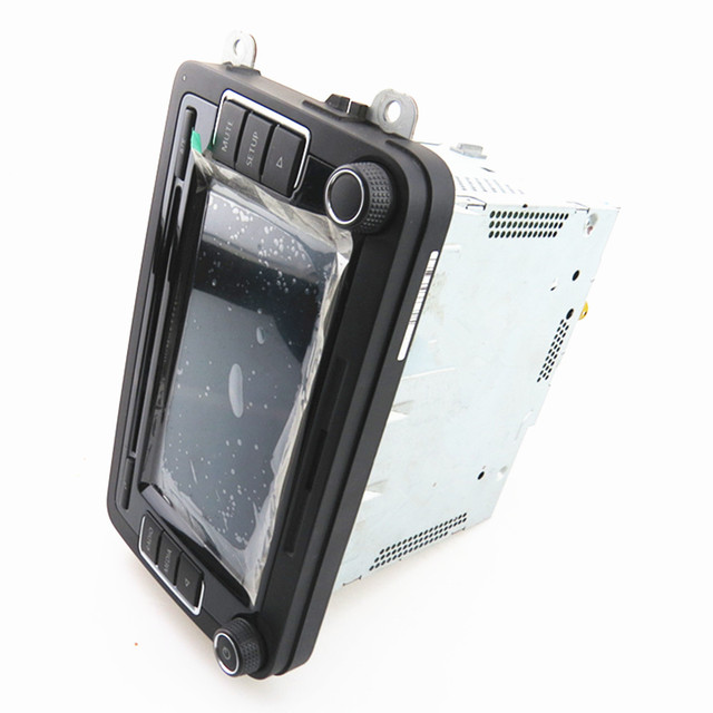 SCJYRXS Stereo Radio CD Player For Golf MK5 MK6 Touran Caddy Polo CC Passat B6 B7 English Version Support RGB Image RCD510 1