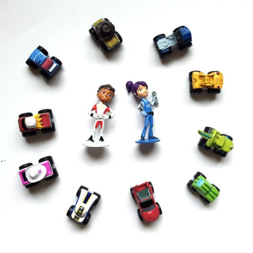 12 Pcs/Set 3-6 CM Anime Figure Blaze Monster Machines PVC Model Action Figure Hot Toys For Children Juguetes Birthday Gifts
