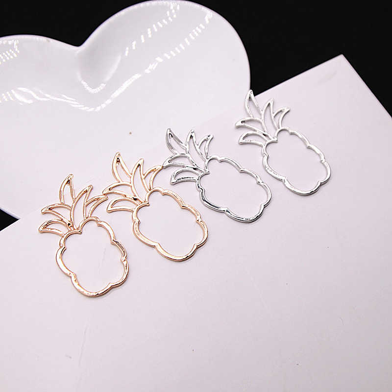 E0429 Hot Sale Pineapple Earrings For Women Girl Gold Color Fruit Stud Earrings Statement Ear Jewelry Exquisite Gift Wholesale