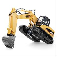 HuiNa Toys 15 Channel 2.4G 1/12 RC Excavator Charging RC Car With Battery RTG Excavating machinery