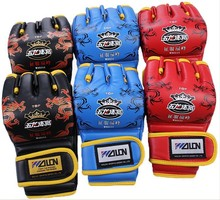 Free shipping 1 pair Wulong boxing gloves and suitable for fighting /sanda/sandbag physical practice in great fit handling