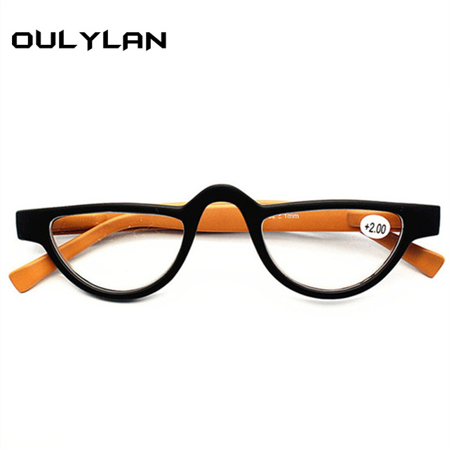 Oulylan Cat Eye Reading Glasses Women Lightweight Hyperopia Prescription Eyeglasses with Diopter Spectacles 1.0 1.5 2.0 2.5 3.5