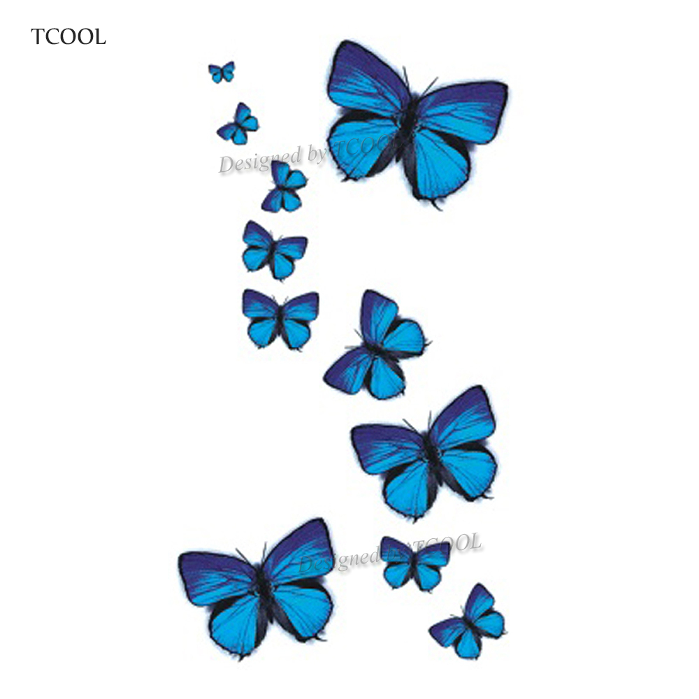HXMAN Butterfly Women Temporary Tattoo Sticker Tattoos For Men Fashion Body Art Kids Children Hand Fake Tatoo 10.5X6cm A-049