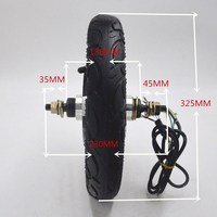 Электрический велосипед/велосипед электродвигатель для скутера 24 В/36 В/48 в 350 Вт бесщеточный концентратор мотор для e bike/escooter/скутер 12 дюймов