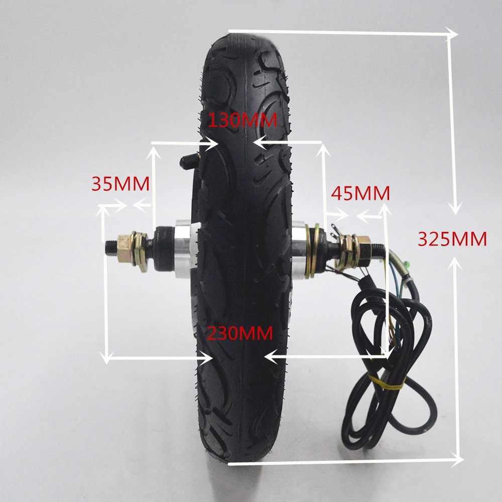Elektryczny rower/rower ebike Motor 24 V/36 V/48 V 350W bezszczotkowy silnik piasty do e-bike/escooter/skuter 12 cali koło silnikowe