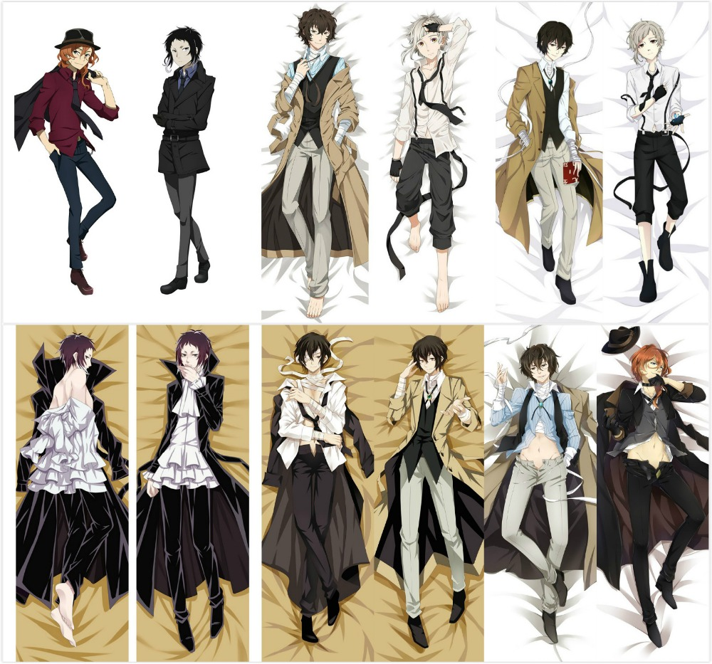 New Osamu Dazai - Bungo Stray Dogs Anime Japanese Hugging Body Pillow Cover Case Bedding Dakimakura Pillows