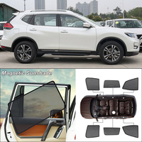 Car Side Windows Magnetic Sun Shade UV Protection Ray Blocking Mesh Visor For Nissan x trail Curtain Accessories