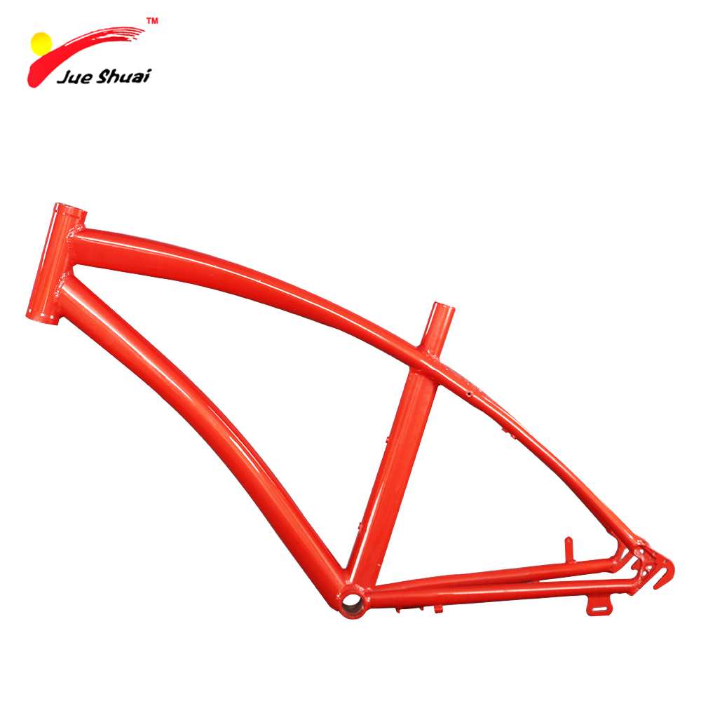 JS 700C Steel Frame Colorful MTB Customized Print Used For mountain Myb Bicycles Frame Bike Bicycle Parts High Quality rockbros titanium ti pedal spindle axle quick release for brompton folding bike bicycle bike parts