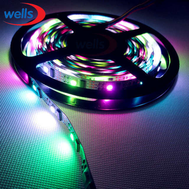 3M WS2801 5050 RGB Dream Color 32LED/M LED non-waterproof Strip Addressable DC5V