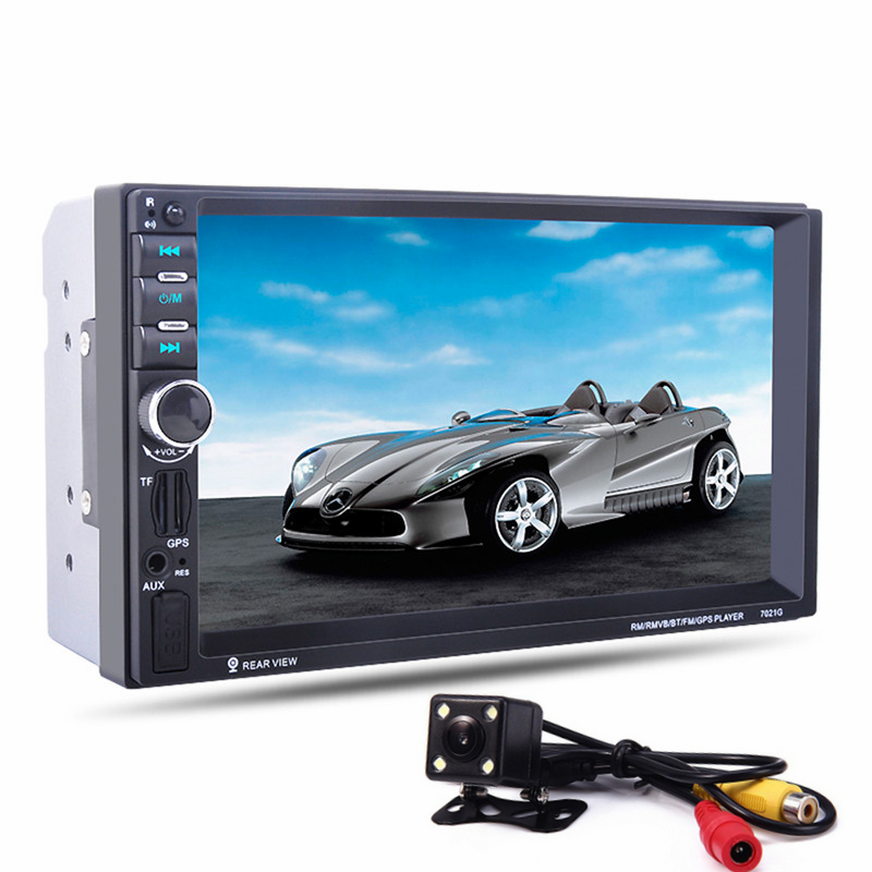 7 inch 2 Din 7021G Car MP5 Player GPS Navagation Bluetooth Auto Multimedia Player with FM Radio Rear View Camera Remote Control 7021g 2 din car multimedia player with gps navigation 7 hd bluetooth stereo radio fm mp3 mp5 usb touch screen auto electronics