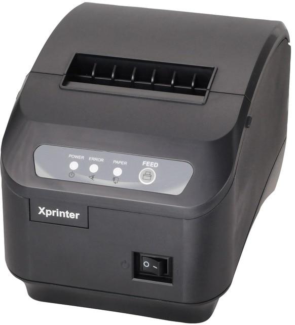 XP-Q200II pos принтер Высокое качество 80 мм тепловая чековый принтер 80 мм автоматической резки USB + Последовательный интерфейс