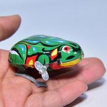 Sound Maker Classic Toys Tin Wind Up Clockwork Jumping Frog Vintage Interesting Metal Wind up Model