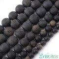 """Rodada Geada Ouro Obsidian Gem Stone Beads Espaçador Vertente 15 """"6,8, 10,12mm Para DIY Colar Pulseira Jóias fazer, Frete Grátis"""
