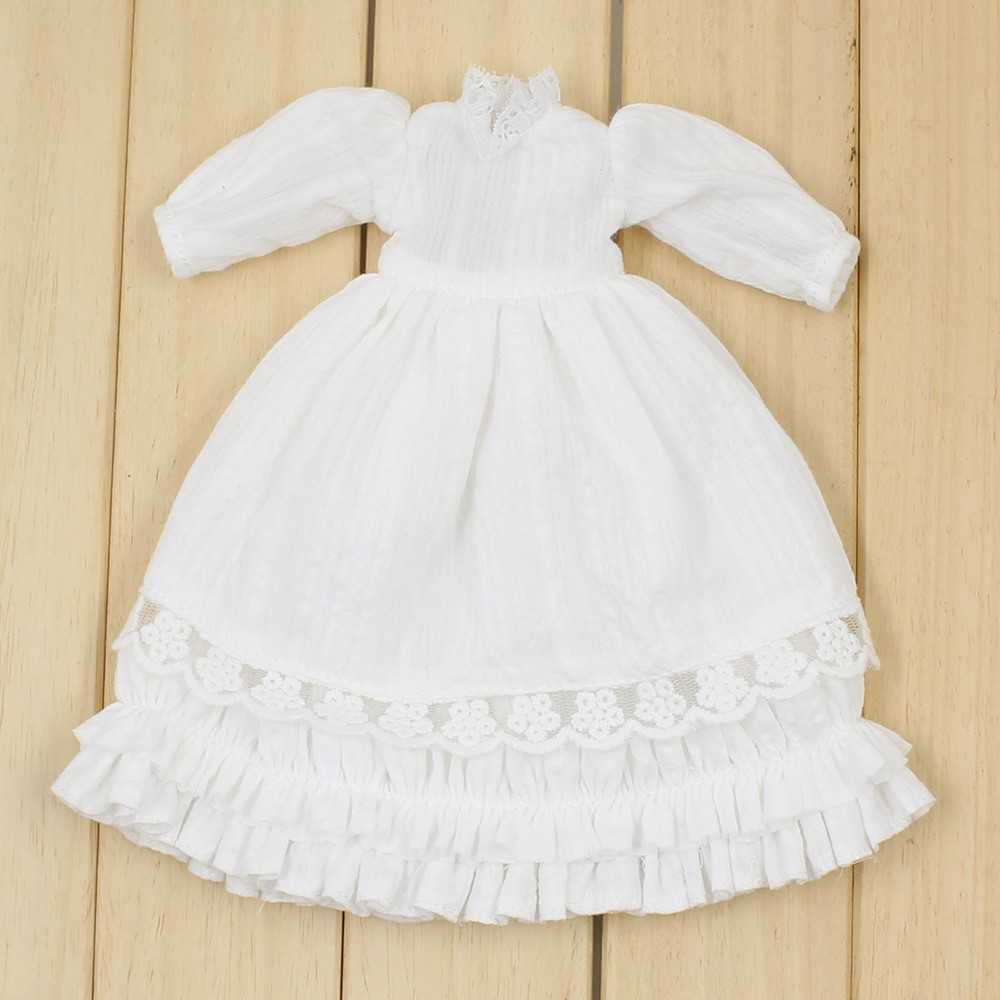 Neo Blythe Doll Floral Lace Dress with Bow, Ear & Headdress 5