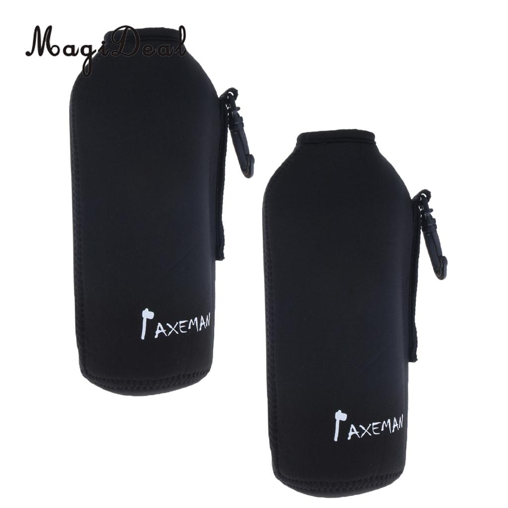 2pcs Neoprene Insulated Sports Water Bottle Cover Pouch Sleeve Bag Holder