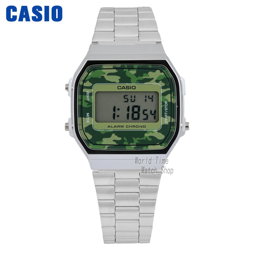 Casio Watch Retro modeling waterproof square male watch A168WEC-3D A168WEGB-1B modeling mixed species forest stands