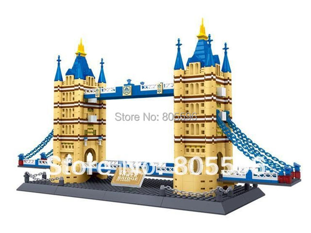 8013 tower bridge without original box Enlighten Building Block Set Construction Brick Educational Block toy architecture
