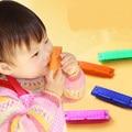 Seguro y no tóxico plástico armónica de juguete del instrumento musical juguetes para niños bebé educativa