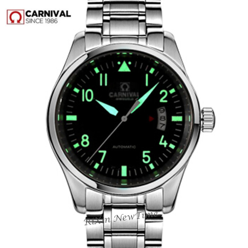 Luminous waterproof automatic mechanical watches men full steel leather strap fashion casual luxury brand men watch clock montre 10pcs g45 usb b type female socket connector for printer data interface high quality sell at a loss usa belarus ukraine