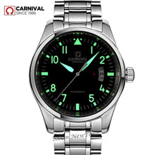 Luminous waterproof automatic mechanical watches men full steel leather strap fashion casual luxury brand men watch clock montre цена и фото