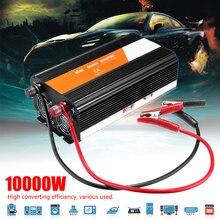 Transformator napięcia PEAK 10000W falownik samochodowy 12/24V do 220/110V zmodyfikowany falownik sinusoidalny bezpiecznik o wysokiej wydajności Automotive