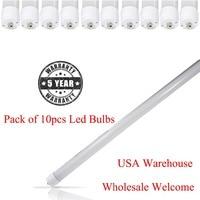 Stock aux ETATS-UNIS 40 pcs 8ft 2.4 m 40 w T8 T12 LED Tube lumière Seule Broche Ampoule SMD2835 Lampes Fluorescentes 6000 k Blanc LED Tube lampe