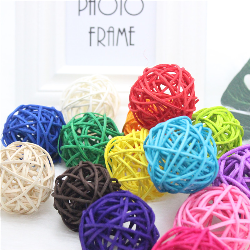 4cmcolorful Sepak Takraw Diy Rattan Ball Garden Christmasbirthdaywedding Decor Home Party Supplies Kids Gifts 18th Birthday Party Decorations 18th