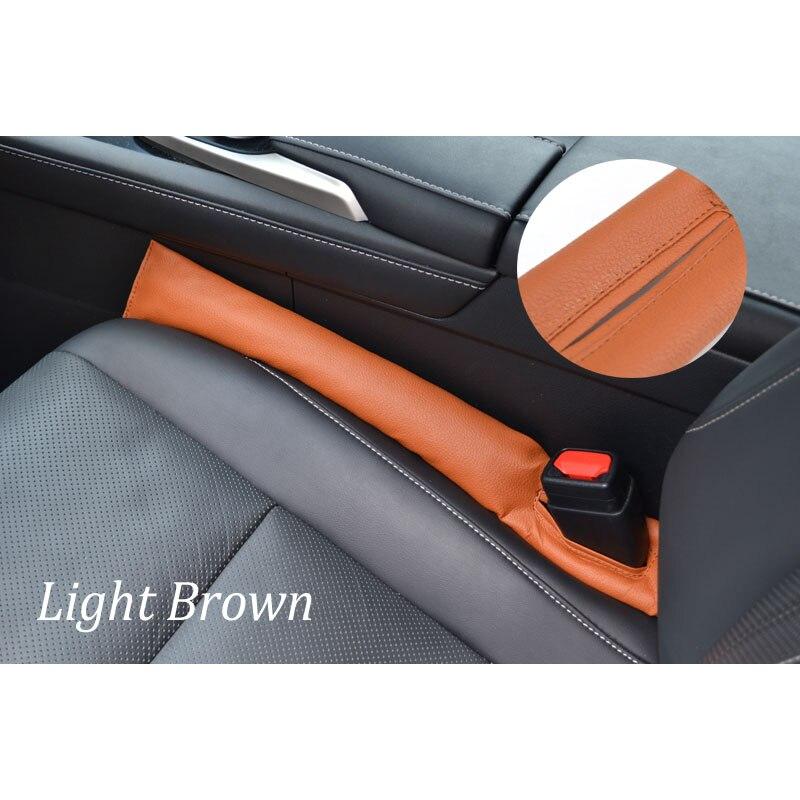 Для Toyota RAV4 2013 1 шт. автомобильное кресло зазор стопор герметичный стоп-коврик прокладка наполнителя коврик для подушки - Название цвета: brown