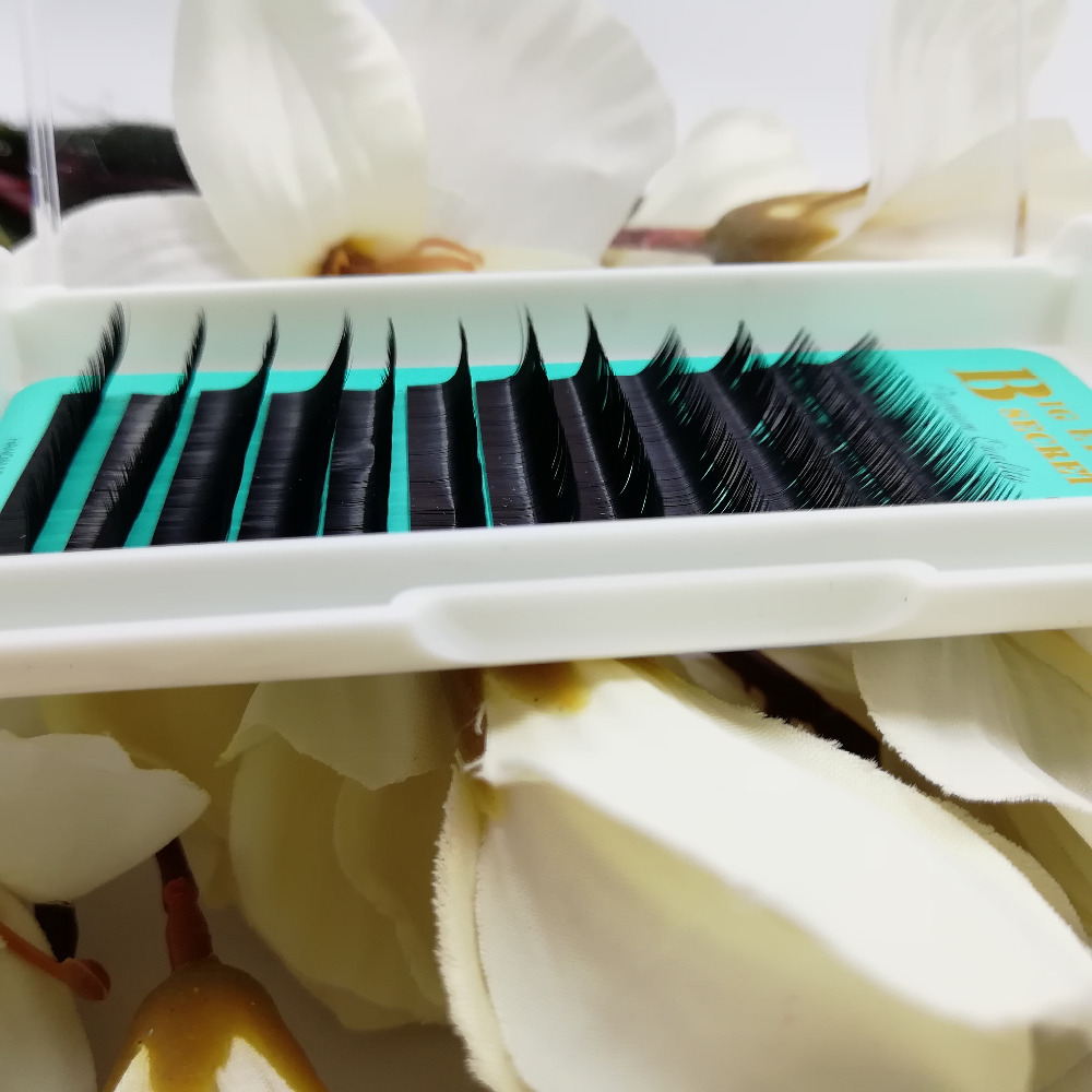 Big eyes secret Faux mink individual eyelash extension for professionals soft Korean Silk lashes Free shipping