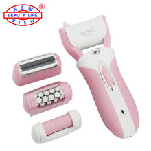3 in 1 Rechargeable Electric Pedicure Foot File Callus Remover Velvet Smooth Lady Shaver Epilator Hair Removal Shaving