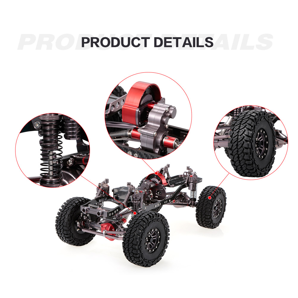 RC Car 1/10 Racing CNC Metal Aluminum & Carbon Frame AXIAL SCX10 ...