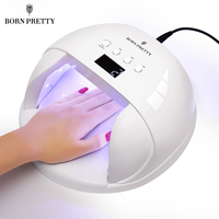 BORN PRETTY 48W LED UV Lamp For All Soak Off UV Gel Polish With Infrared Sensing 30/60/90s Curing Machine Nail Art Dryer Tools