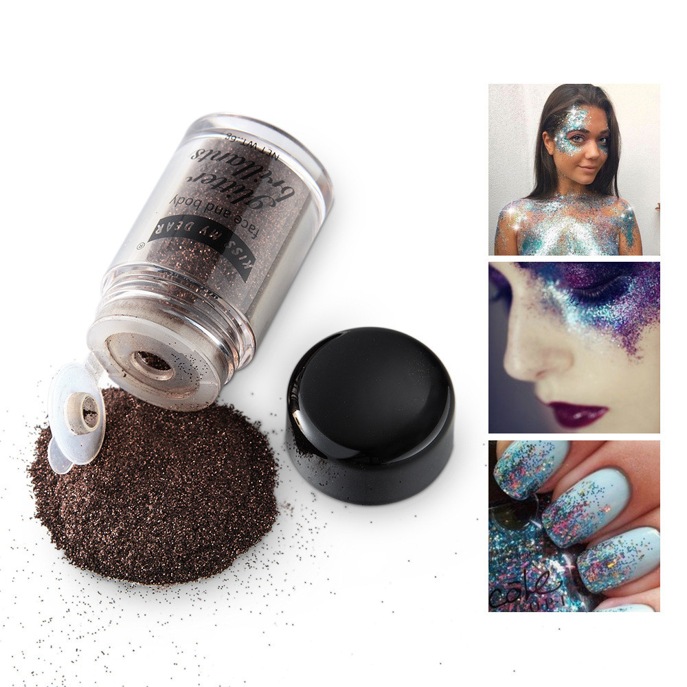 Eye Shadow Open-Minded Glitter Powder Eyeshadow Makeup Sequin Diamond Colorful Glitter Gel Shiny Body Mermaid Festival Powder Pigment Makeup Cosmetics Bright And Translucent In Appearance Beauty & Health