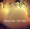2017 New Custom Made Real Sample Tulle With Pearls Sweetheart Open Back Ball Gown Big Train Wedding Dresses Bridal Gowns