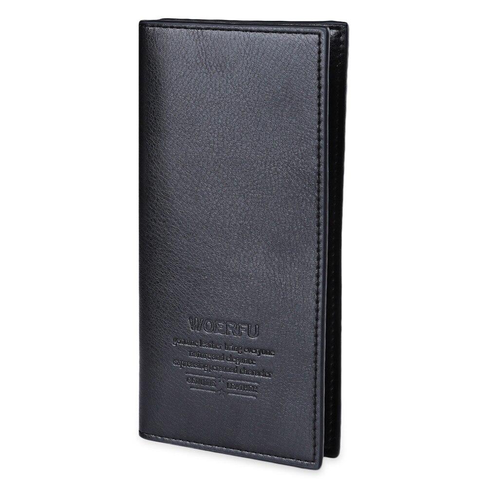 Fashion Men Long Wallet Lichee Soft Vertical Pattern Letter Open Casual Leather Zipper Hasp Card Holder Interior Slot Pocket casual weaving design card holder handbag hasp wallet for women