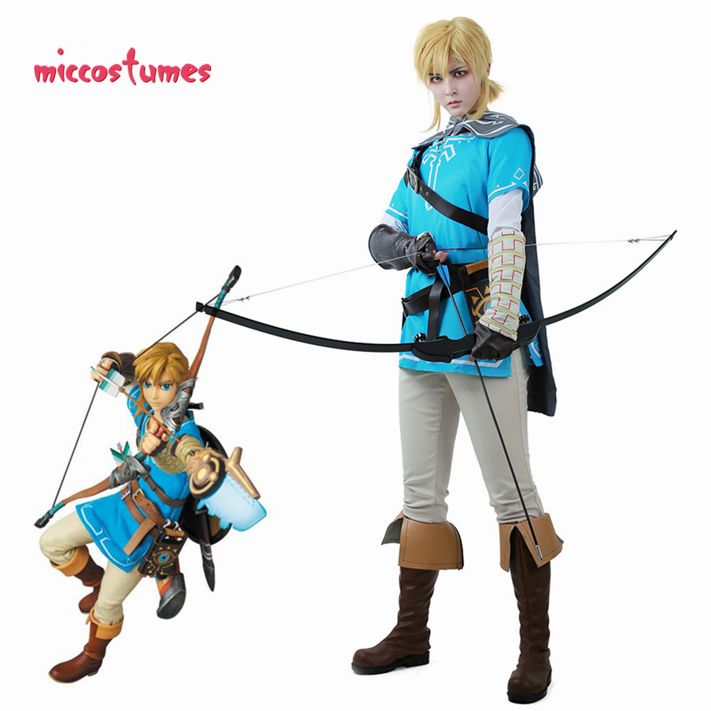 Link Cosplay Costume Male Outfit Cloak The Legend of Zelda Breath of the Wild