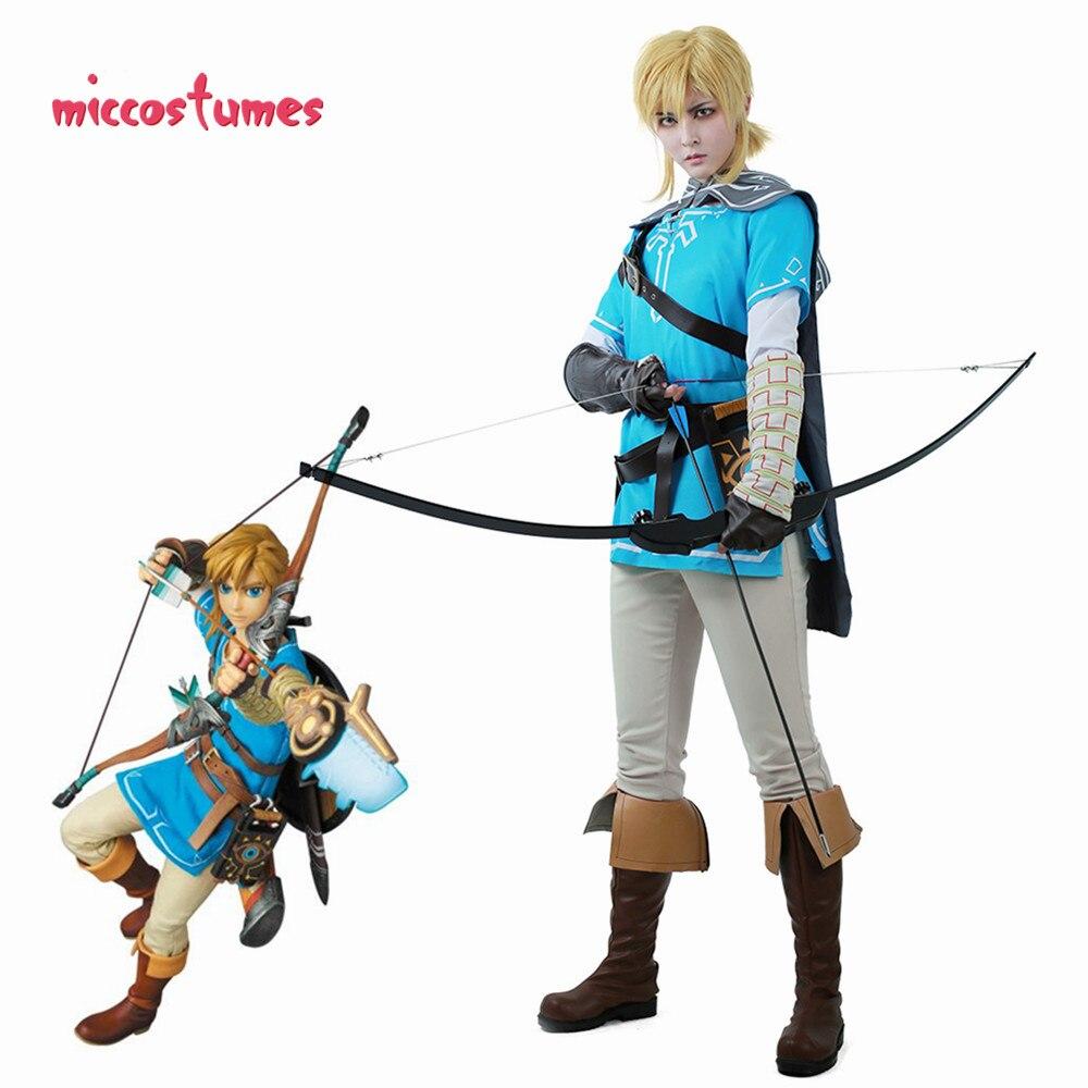 Lien Costume Cosplay tenue masculine cape la légende de Zelda: souffle du sauvage