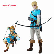 Link Costume Cosplay pour homme, tenue cape, The Legend of Zelda: souffle of the Wild