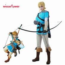 Link cosplay fantasia masculina manto a lenda de zelda: respiração da selvagem